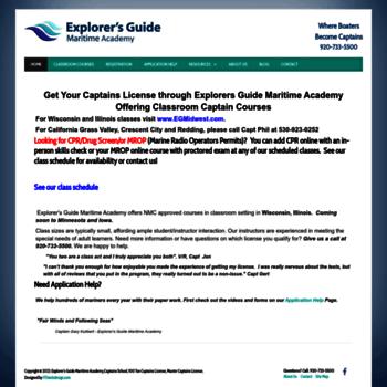 explorersguidellc com at wi explorer s guide maritime academy rh website informer com Explorer's Guide LLC Psychedelic Explorer's Guide