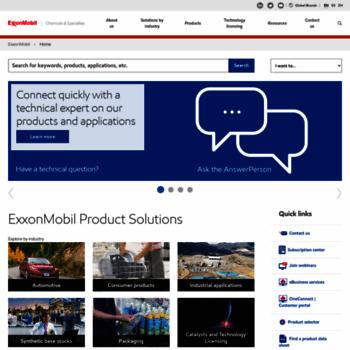 exxonmobilchemical com at WI  ExxonMobil Chemical