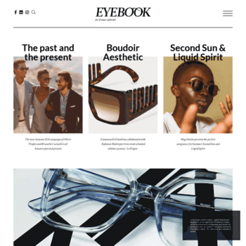 d00d4951faf Eye-book.com thumbnail. Alexa Rank  17761555. Eyebook – The eyewear magazine  for glasses and sunglasses  addicted