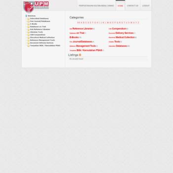 ezproxy upm edu my at Website Informer  Directory  Visit Ezproxy Upm