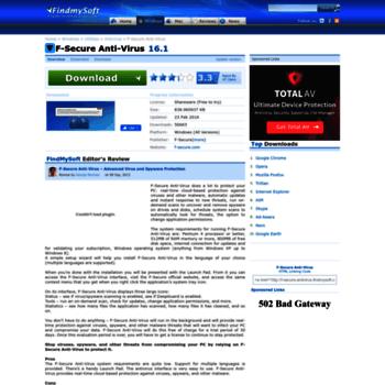 F-secure-antivirus.findmysoft.com thumbnail