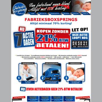 Fabrieksboxsprings.nl thumbnail