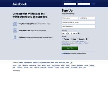 Веб сайт facebook.com