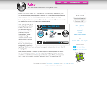 fakeapp com at WI  Fake - Mac OS X Web Browser Automation