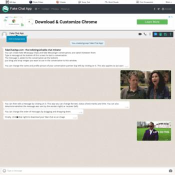 fakechatapp com at WI  Create fake WhatsApp and Messenger