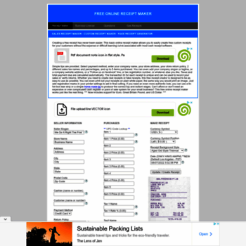 fakereceipt us at WI  Free Online Receipt Maker - Sales