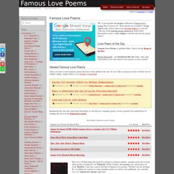 Famous-love-poems.com thumbnail