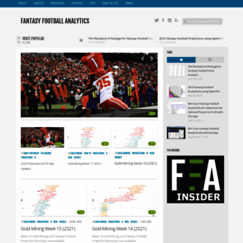 fantasyfootballanalytics net at WI  Fantasy Football Analytics -