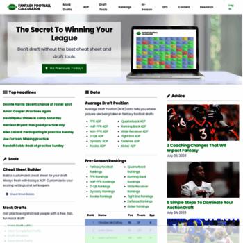 Fantasyfootballcalculator Com At Wi Fantasy Football Calculator