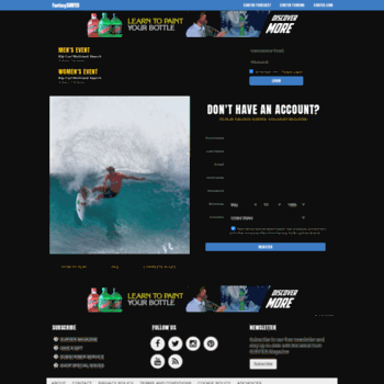 Fantasysurfer Com At Wi Fantasy Surfer By Surfer Magazine