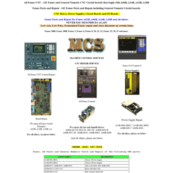 fanucparts com at WI  MCS Home Page, Fanuc, Fanuc Parts, Fanuc
