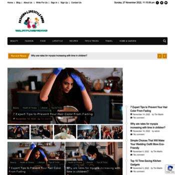 fashionlifestylefood com at WI  Write For Us Fashion, Travel