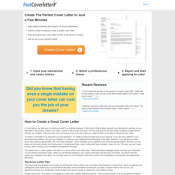 Fastcoverletter At WI FastCoverletter