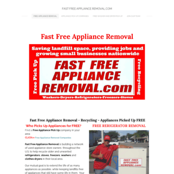 fastfreeapplianceremoval com at WI  FAST FREE APPLIANCE REMOVAL COM