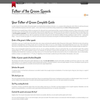 fatherofgroom-speech net at WI  Father of the Groom Speech
