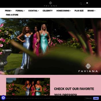 3cfcec1dfd faviana.com at WI. Designer Dresses by Faviana New York | Faviana