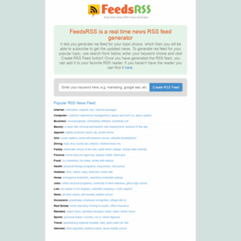 feedsrss com at WI  Real Time RSS News Feed Generator