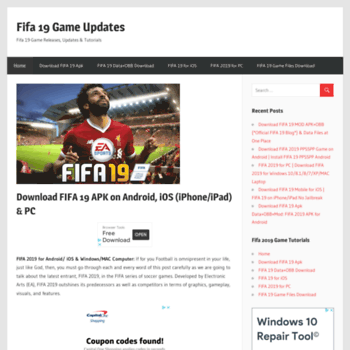 fifa19apk com at WI  Download FIFA 19 APK on Android, iOS