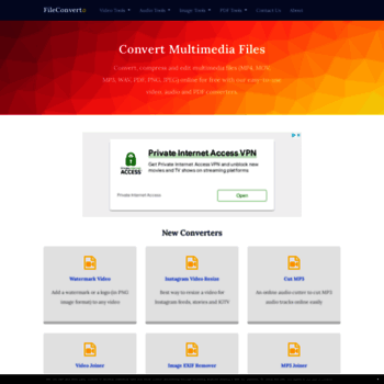 fileconverto com at WI  All-in-One Online Video, Audio & PDF