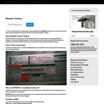 find bluedarttracking in at WI  Bluedart Tracking, Blue Dart Courier