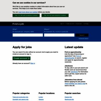 findajob dwp gov uk at WI  Find a job