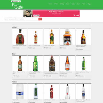 findatheka com at WI  Price of Liquor in Delhi NCR-Find a Theka