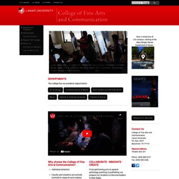 Fineartscomm.lamar.edu thumbnail