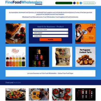 finefoodwholesalers com au at WI  Wholesale Food Supplier