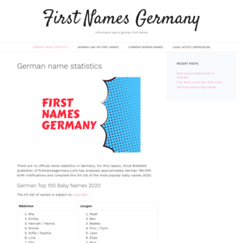 firstnamesgermany com at WI  First Names Germany – Information about