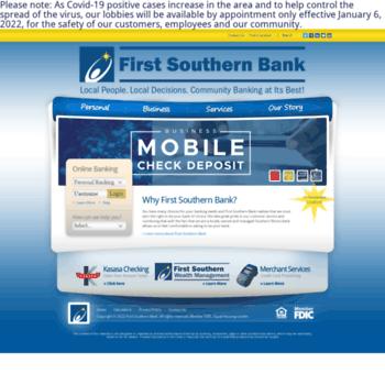 Firstsouthernbank.net thumbnail