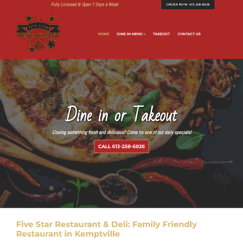 Fivestarrestaurant.ca thumbnail