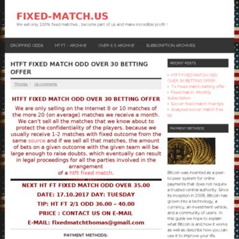 Fixed-match.us thumbnail