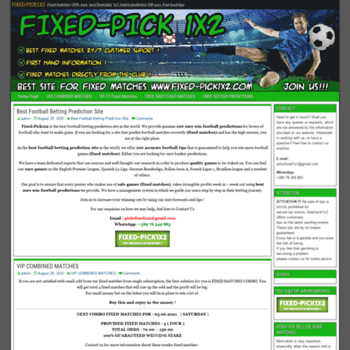 fixed-pick1x2 com at WI  Fixed-Pick1x2 - Fixed Matches Best