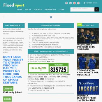 fixedsport com at WI  FixedSport - Home of winning predictions