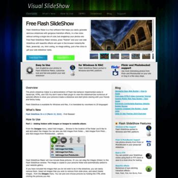 flash slideshow builder free