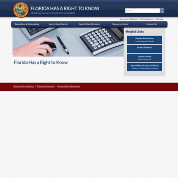 floridahasarighttoknow com at WI  Florida Has a Right to