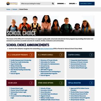 Floridaschoolchoice.org thumbnail
