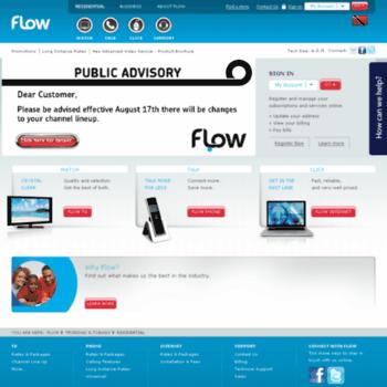 flowtrinidad com at WI  Flow Trinidad   Welcome - TV, Phone, and