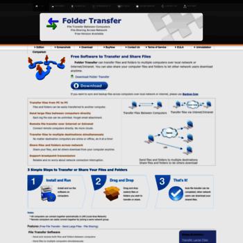 foldertransfer com at WI  Large File Transfer Software and