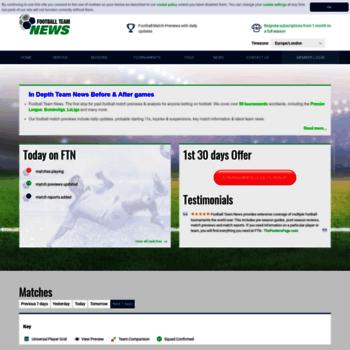 footballteamnews com at WI  Football Team News: Analysis and