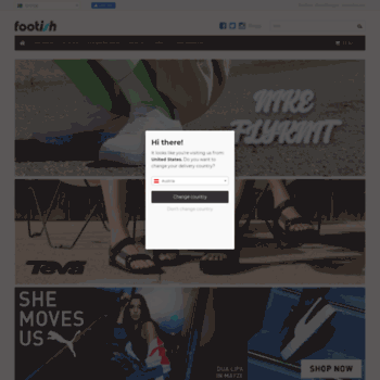 Footish Om du gillar sneakers Nike Adidas Reebok Puma