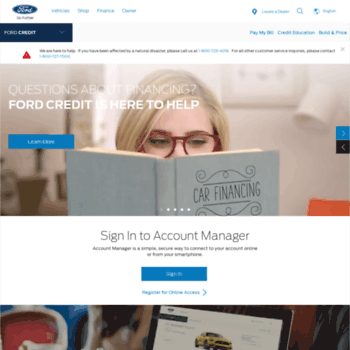 My Ford Credit >> Fordcredit Com At Wi Finance Or Lease Ford Cars Trucks Apply For