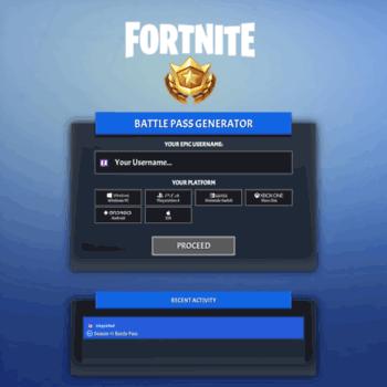 fortnite battle pass key generator