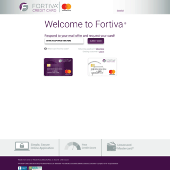 Fortivacreditcard.com thumbnail