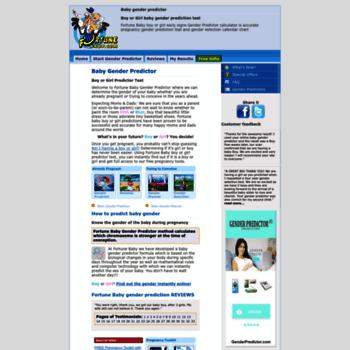 fortunebaby com at WI  Baby Gender Predictor - Boy or Girl