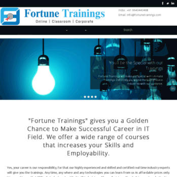 fortunetrainings com at WI  Best SAP FICO | ABAP| MM | SD