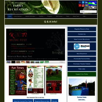 Fortwayneparks.org thumbnail