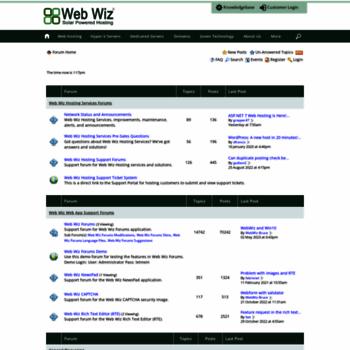Forums.webwizguide.com thumbnail