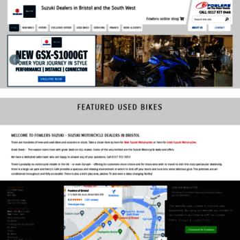 fowlerssuzuki co uk at WI  Suzuki Motorcycles - Used Bikes - Fowlers