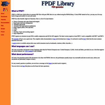 fpdf org at Website Informer  FPDF  Visit FPDF